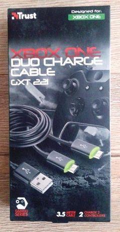 TRUST GXT 221 duo charge cable dla xbox one czarny nowy konsola tanio