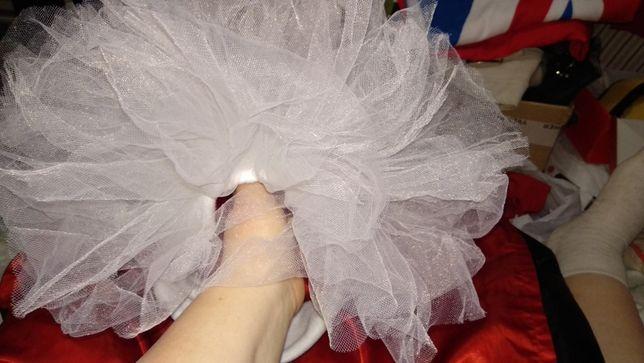 свадебная повязка на голову типа фата бант белый фатин на свадьбу
