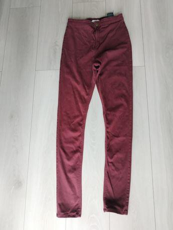 Spodnie bordowe H&M