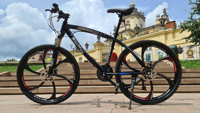 """Горный велосипед BMW BLACK WHITE на литых дисках 26""""17' N0112"""