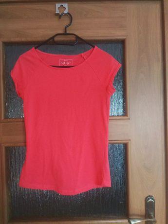Koszulka, podkoszulek t-shirt tshirt XS malinowy, różowy SINSAY