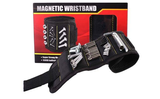 Wristband / Bracelete Magnético de Íman para Parafusos Pregos Brocas