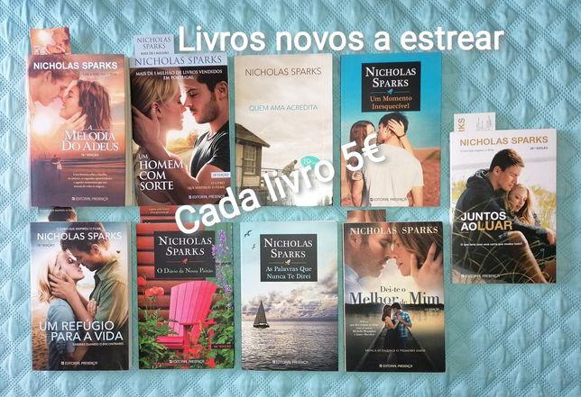 Colecção Nicholas Sparks - Livros NOVOS a estrear