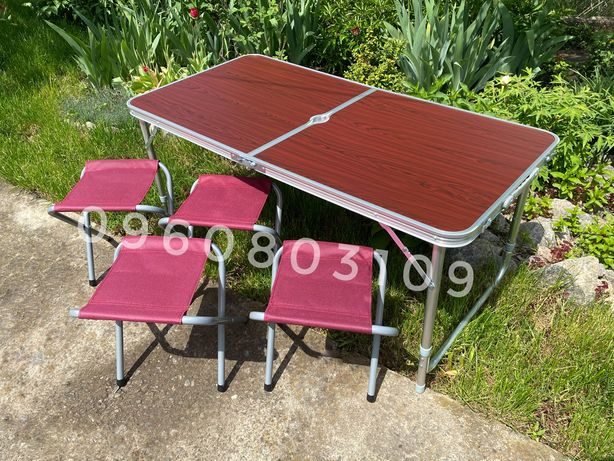 Sale! Стол для пикника + 4 стула. Раскладной столик, стіл кемпинга рыб