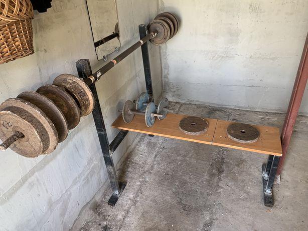 Штанга+лежак+гантелі . Штанга 100 кг