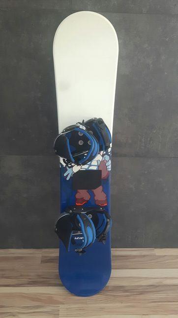 Deska snowboardowa z wiązaniami 125 cm