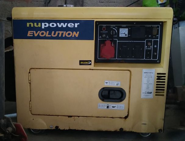 Aluguer gerador monofásico / trifásico diesel 5000w