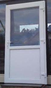 Drzwi w kolorze Biały Dąb. Szyba/Panel. 90x200 PCV. Lewe/Prawe