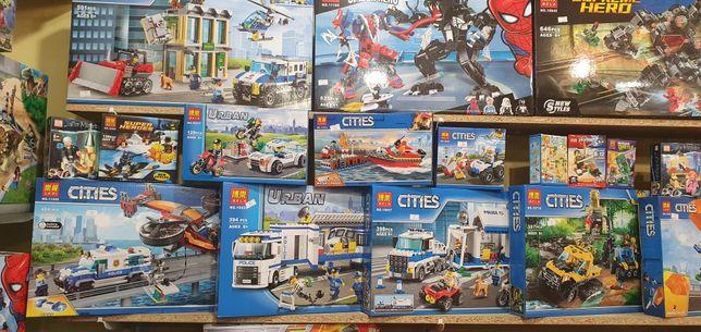 Конструктор Bela Сити Lego City Полиция.Джунгли.Пожарные.Вулканы.