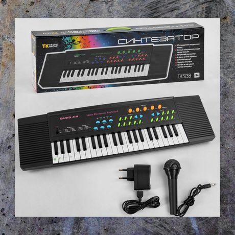 Детский синтезатор - Пианино на батарейках и от сети !
