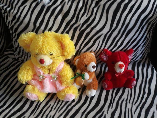 Игрушки медведи 3 шт мягкие
