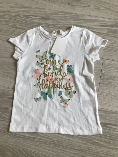 Новая Маечка девочка H&M 4-5 лет