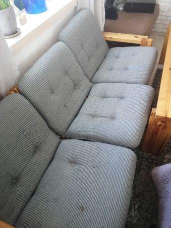 Komplet wypoczynkowy, kanapy, fotel, ława