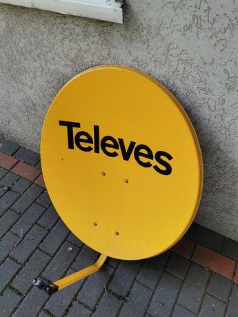 Talerz czasza antena satelitarna Televes + konwerter twin