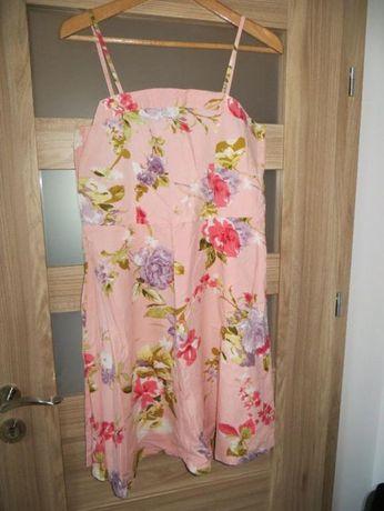 Zwiewna sukienka letnia w odcieniach różu rozm.40/L