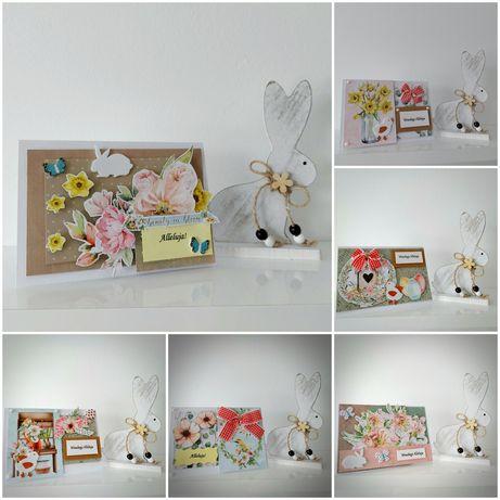 Kartki Wielkanocne zestaw 6 sztuk