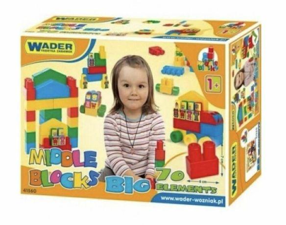 конструктор Wader 41560 Большой набор 70 элементов, для детей от 1 год