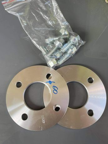 Dystanse 5mm, 4x100 oraz 10mm,4x100 , 60mm otwór centrujący- komplet