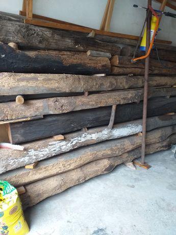 Vigas madeira de carvalho