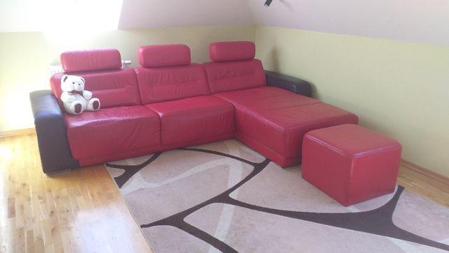 Sofa Narożnik ETAP Sofa kolor czerwony