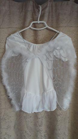 Костюм ангела,новогодний костюм,купальник для гимнастики.