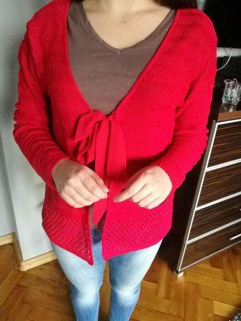 J. nowy Sweterek Damski Czerwony Modny Okazja
