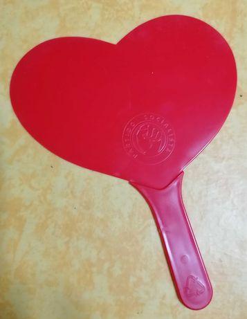 Leque de plástico (PS) em forma de coração