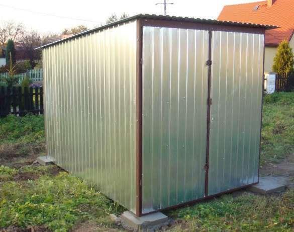 Garaż - Blaszak schowek 2,5x4 ocynk I gatunek Dostawa i montaż Gratis