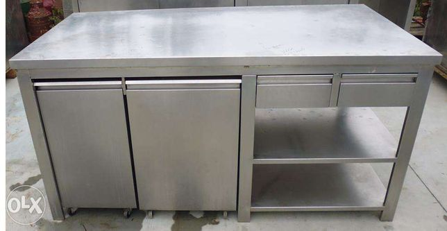 Mesas inox para fabrica de pastelaria/Padaria