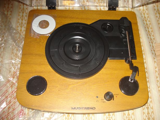 Gramofon drewniany retro