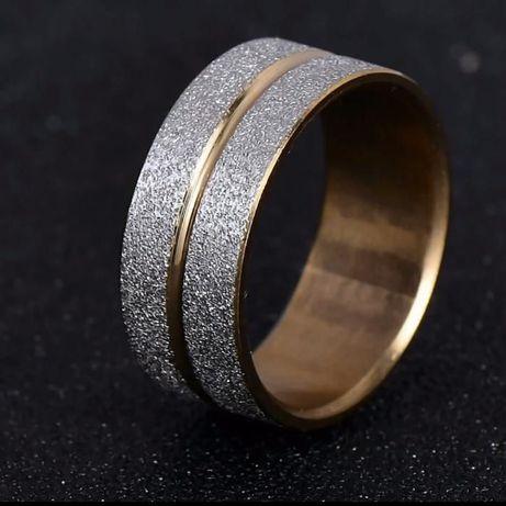Nowa obrączka, pierścionek ze stali nierdzewnej, szlachetnej