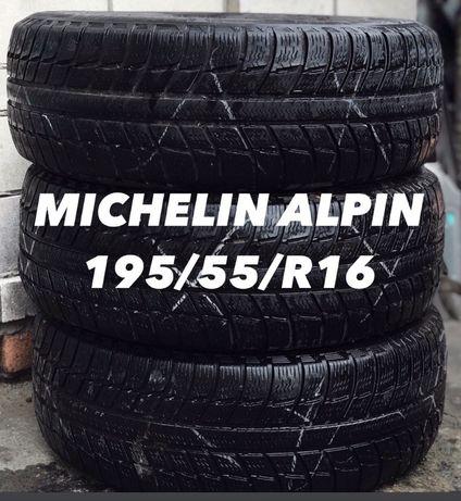Шины michelin alpin 195/55/ R16