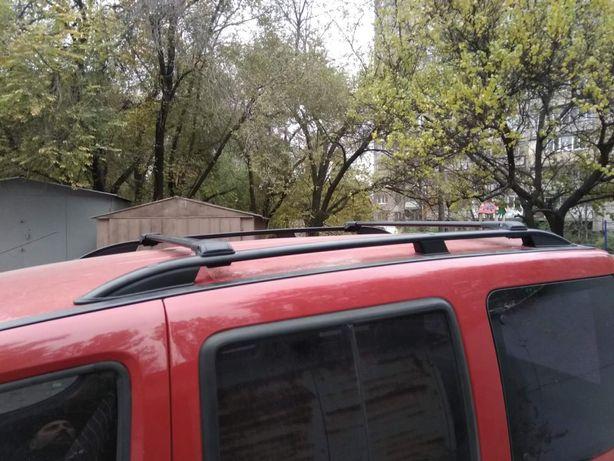 Турецкие Перемычки на рейлинг под ключ Fiat Doblo / Черный цвет!