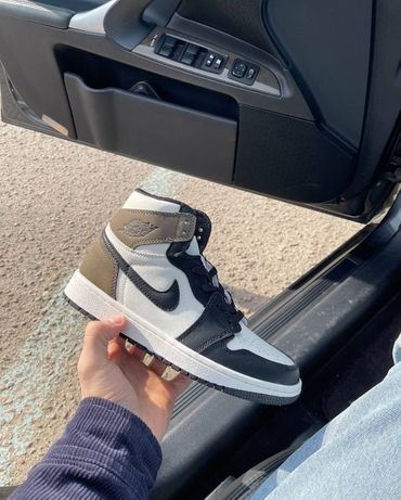 Nike Jordan Retro 1 Dark Mocha Brown White размеры 36,37,38,39,40,41