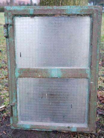 Stare okno metalowe antyk loft industrialne okienko