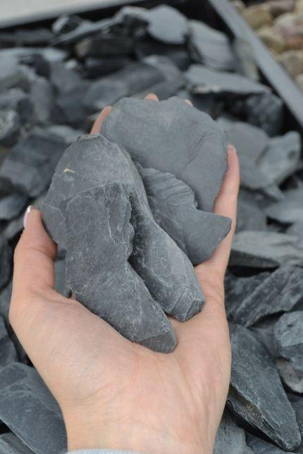 Łupek czarny żwir kora grys kamień ogrodowy