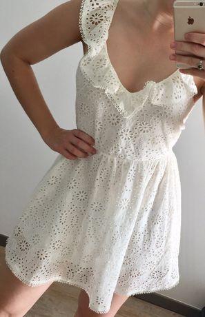 Nowa sukienka bez pleców H&M haft 36