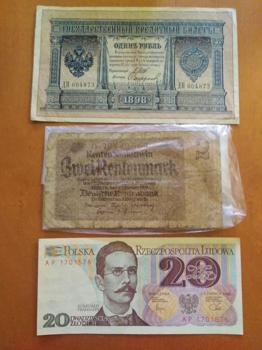 Stare Banknoty PRL Rosja Carska Niemcy XIX XX wiek Gdańsk - image 1