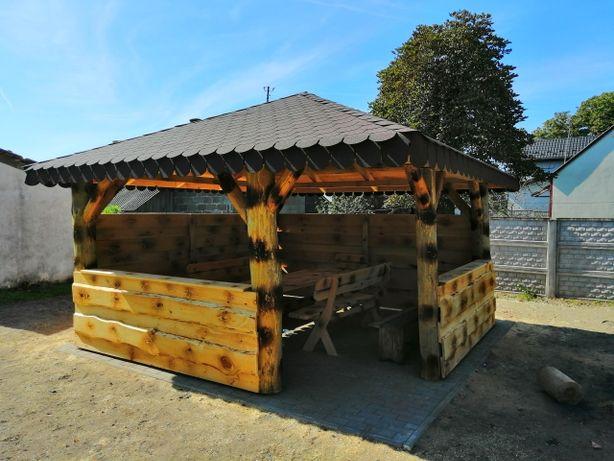 Meble ogrodowe Altana Altanka Altanki z grubych bali