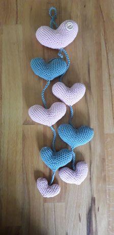 Zawieszki dla noworodków, handmade, na szydełku