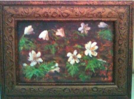 Wiosenny Obraz olejny - oprawiony rama 20 x 15cm