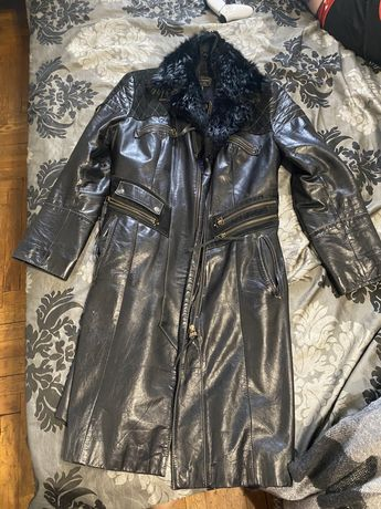 Эксклюзивное кожаное пальто, куртка