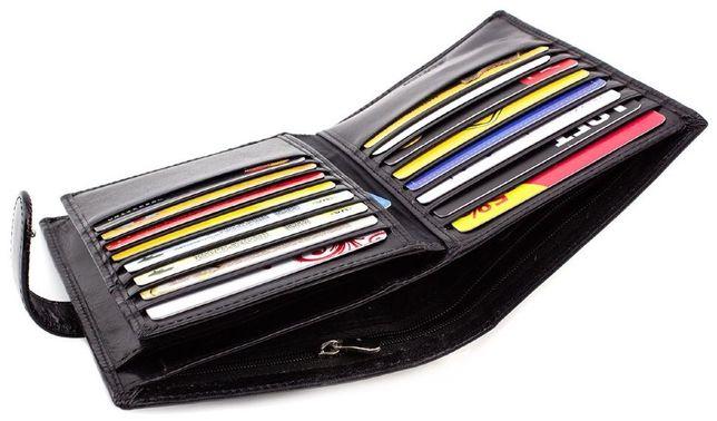 Мужской большой кошелек и много карточки из гладкой кожи BOSTON