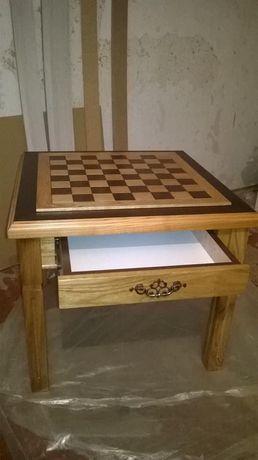 Журнальный, шахматный, столик. С ящиком.