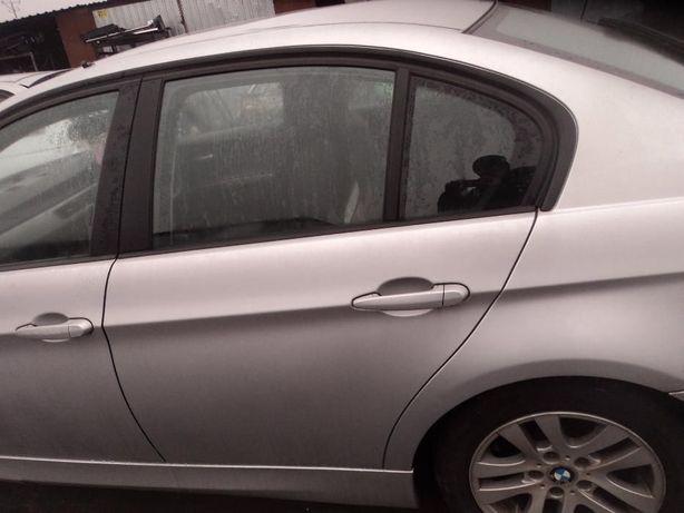 Bmw E90 tylne lewe drzwi titansilber metallic