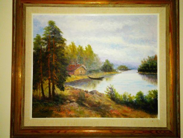 Obraz olej na płótnie z podpisem , kolekcja