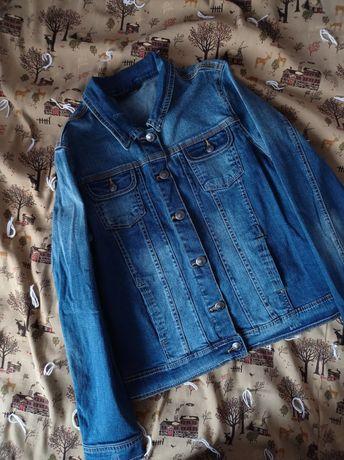 Джинсовый пиджак джинсовка джинсовая куртка короткая