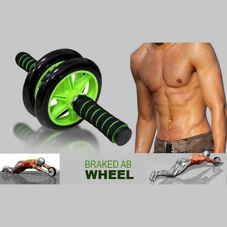 Гимнастическое спортивное фитнес колесо Double wheel Abs health abdome