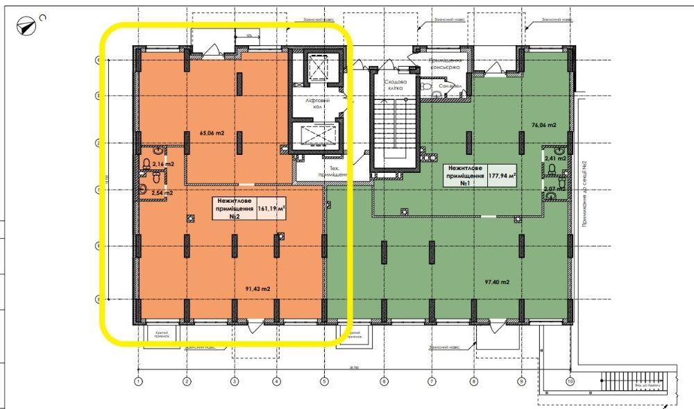 Коммерческое нежилое помещение 161 м2. БЕЗ КОМИССИИ. Новострой. Отрада