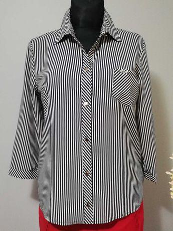 Elegancka bluzka koszula w paski  rozmiar 44
